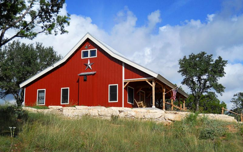 Country Barn Home With Open Porch