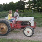 Heather Maries First drive on a tractor