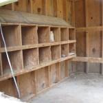 Inside Chicken Coop